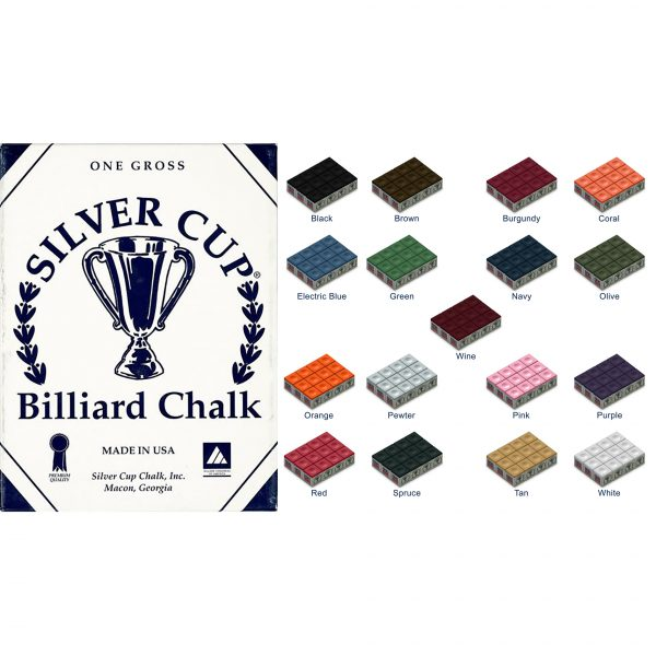 Silver Cup Chalk 12 Pack - 17 Available Colours