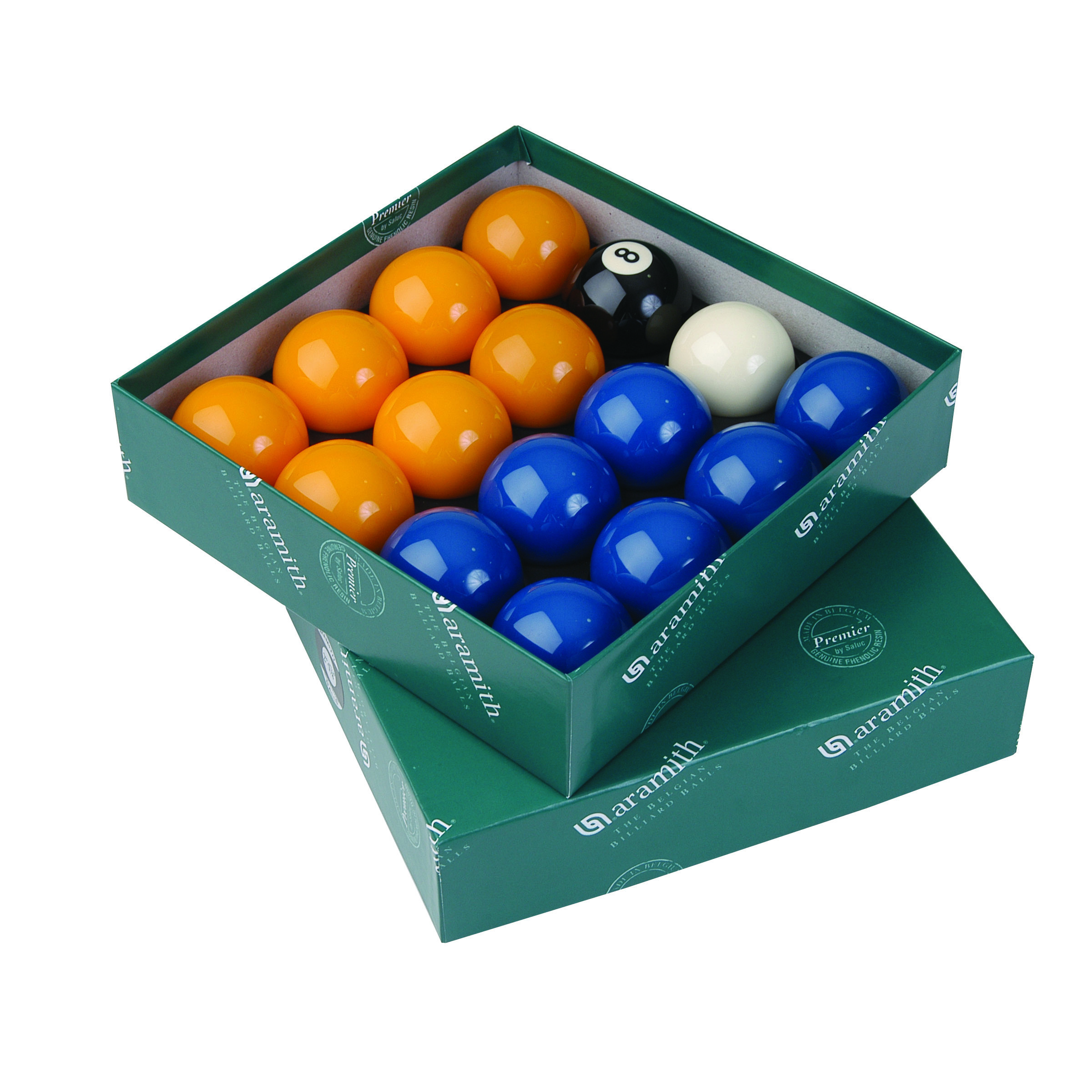 Aramith Premier Red-Yellow 2 Pool Balls with 1 7//8 Pro Cup Cue Ball
