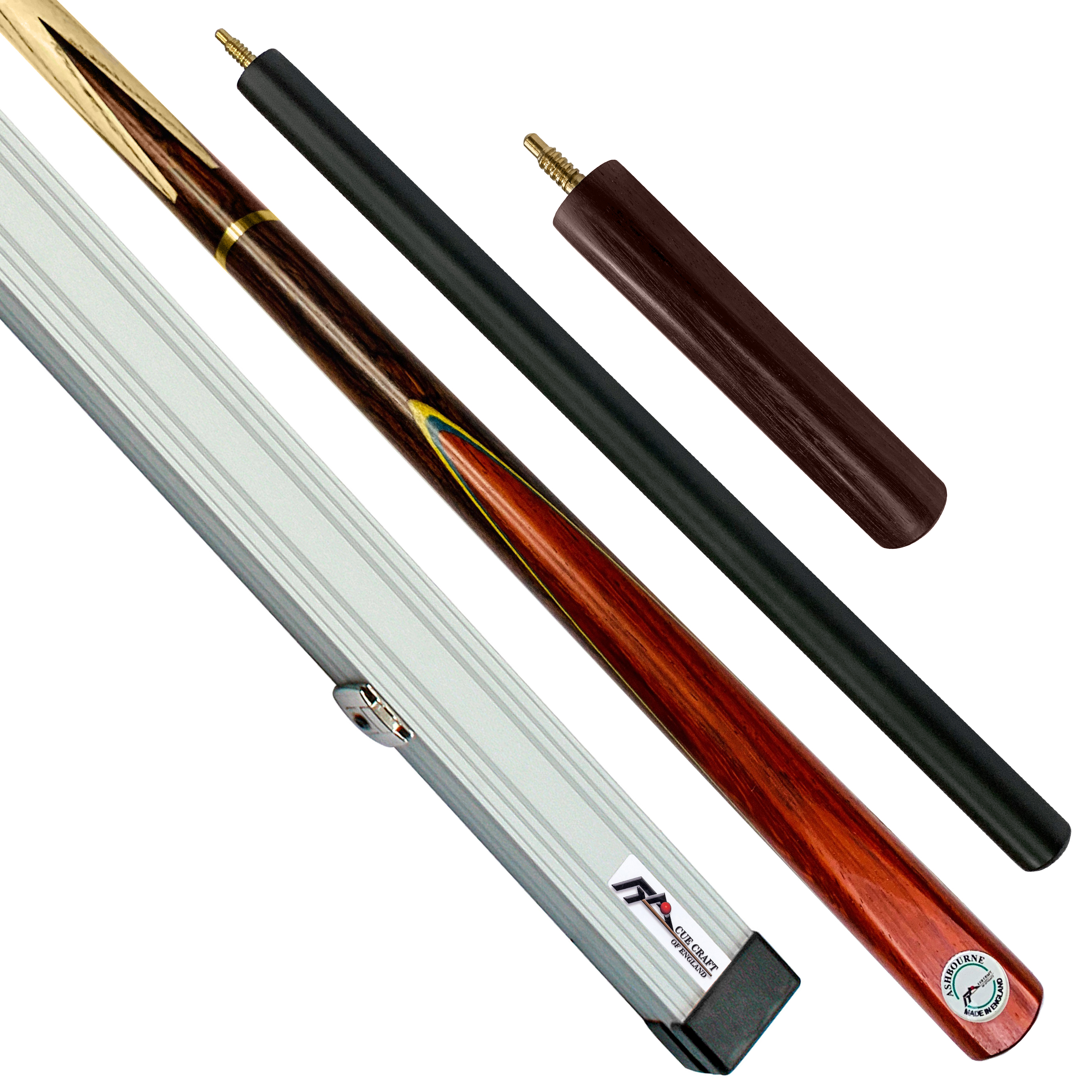Cue Craft Ashbourne ¾ Jointed 5 Piece Snooker Cue Collection