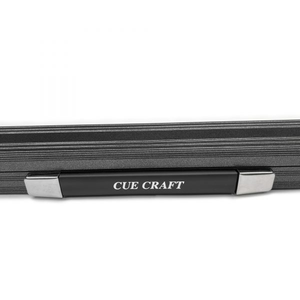 Cue Craft Gloss Black 3 Piece Aluminium Snooker Cue Case
