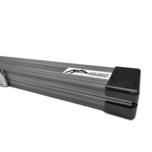 Cue Craft Gloss Silver 3 Piece Aluminium Snooker Cue Case