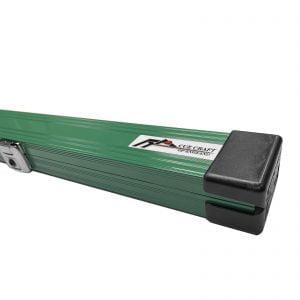 Cue Craft Green 3 Piece Aluminium Snooker Cue Case