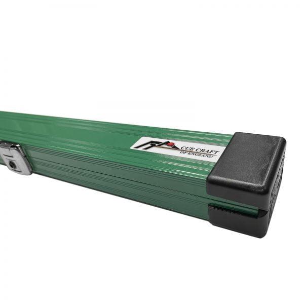 Cue Craft Green Bespoke 1 Piece Aluminium Snooker Cue Case