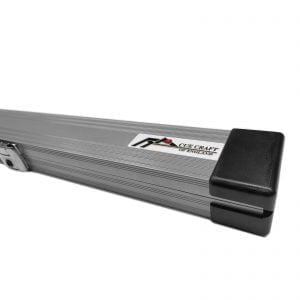Cue Craft Powder Silver 3 Piece Aluminium Snooker Cue Case