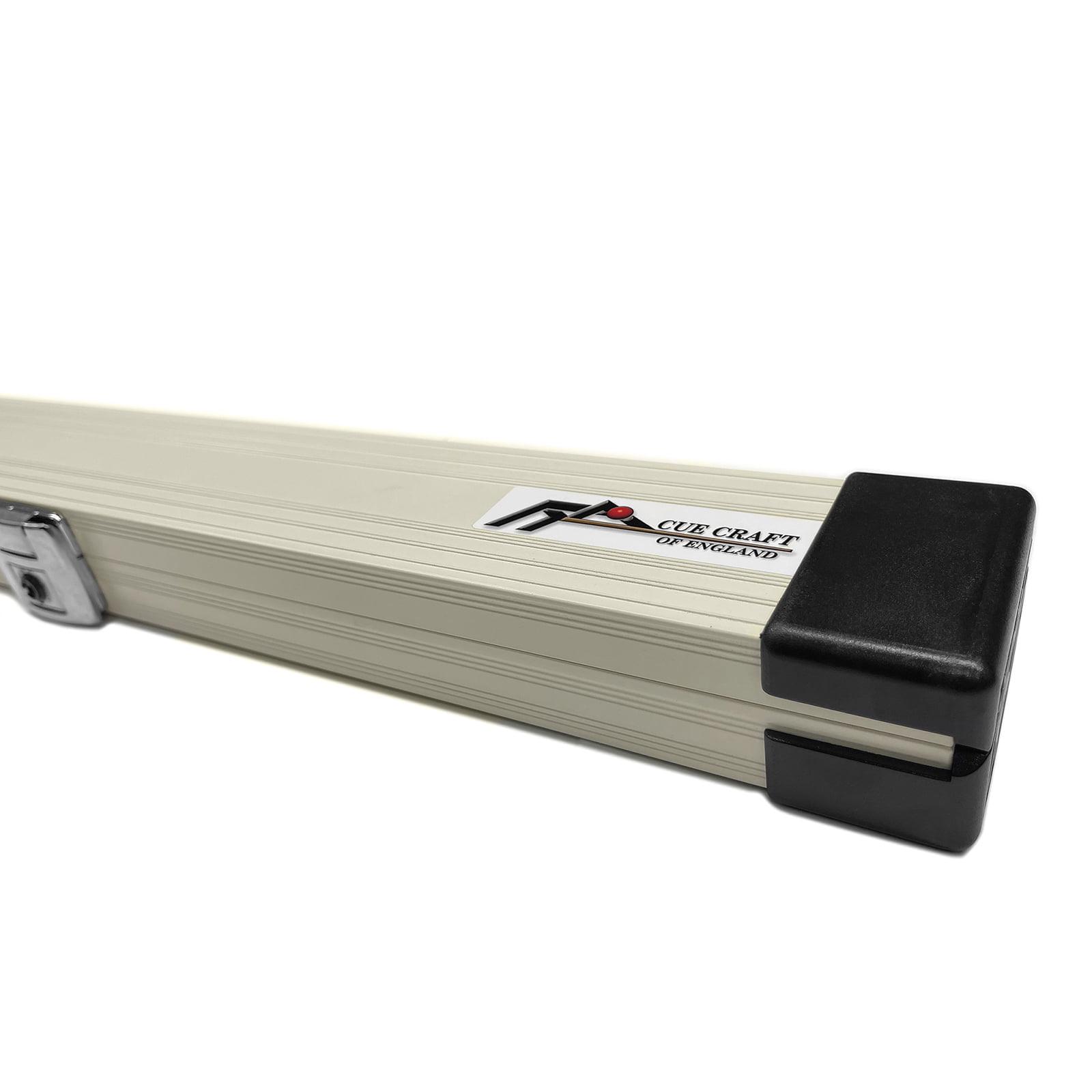 Cue Craft White Bespoke 1 Piece Aluminium Snooker Cue Case